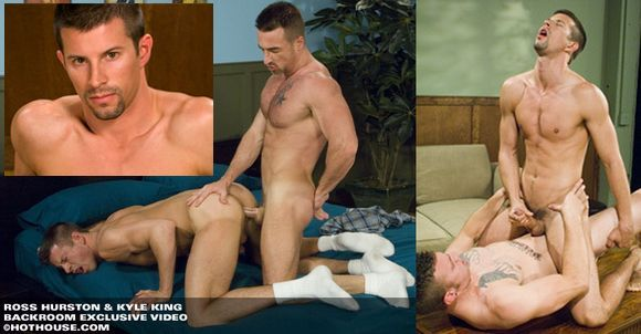 Porn Star Kyle King fucked by Dillon Crow and Ross Hurston