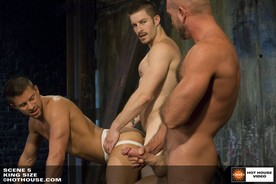 Kyle King, Mike Roberts & Josh West in Scene 5 of King Size