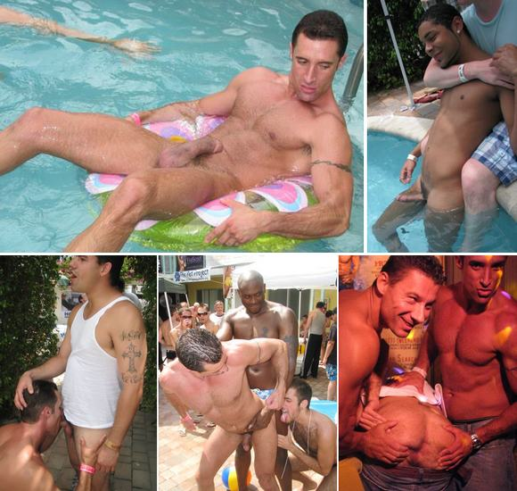 Gay twink boys pool party