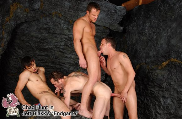 Phenix Saint, Cort Donovan and Nash Lawler Fuck Chad Hunt