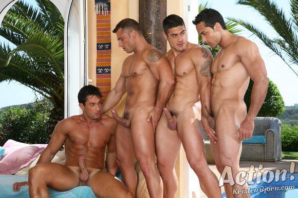 Pedro Andreas Daniel Marvin Carlos Montenegro naked muscle hunks