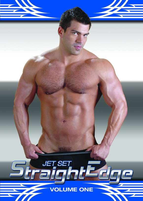 Bodybuilder gay porn star Vince Ferelli on the cover of Jet Set STRAIGHT EDGE Volume One