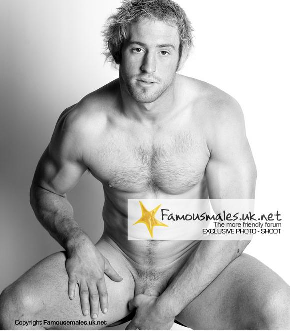 Tim Oakes Sandbach Rugby team captain naked
