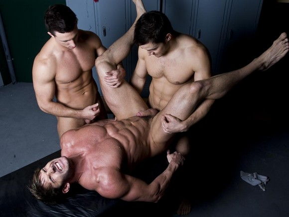 Randy Blue models Chris Rockway Reese Rideout fuck bodybuilder Jeremy Walker in The Coach 2