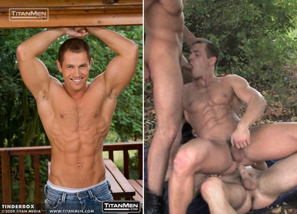 muscular European hunk David Novotny getting fucked and sucking cock
