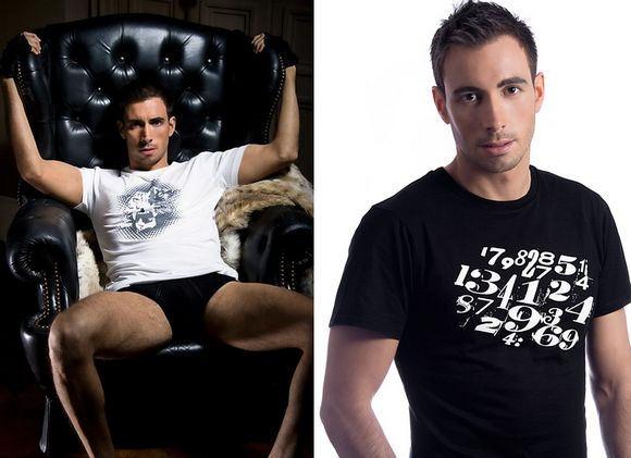 French Gay Porn Star Ludovic Canot in Kustom Limited Campaign