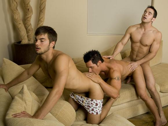 Randy Blue gay sex threesome Malachi Marx Benjamin Bradley Chris Rockway fuck