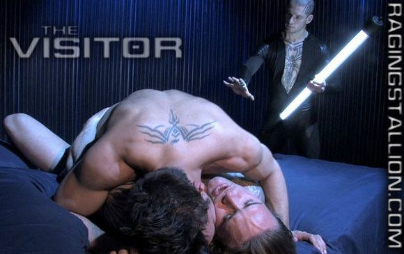 Raging Stallion Sci Fi gay porn The Visitor Logan McCree Lucky Daniels David Taylor