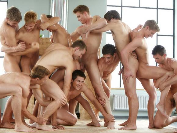 handsome and muscular Bel Ami boys and Corbin Fisher models
