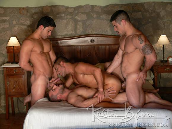 Kristen Bjorn Pride Daniel Marvin and Pedro Andreas double fuck David Dirdam
