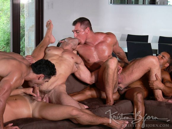 gay porn star Daniel Marvin Francesco D'Macho in Tropical Adventure ORGY