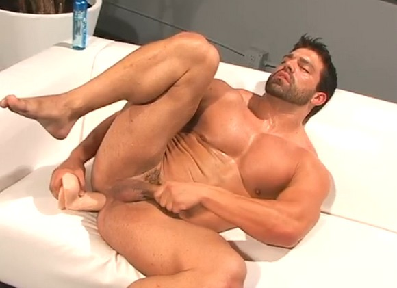 Nude Man Using Dildo