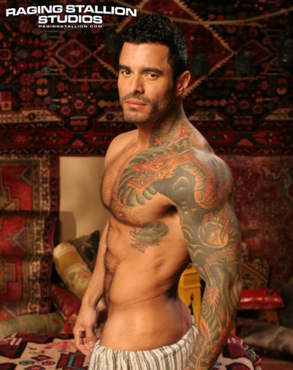 Latino bodybuildr gay porn star Alexsander Freitas in Tales of the Arabian Nights