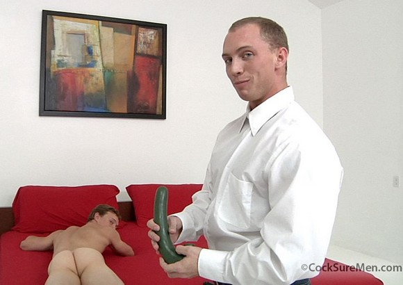muscular gay porn star John Magnum porn comedy Bottoming 101 dildo play