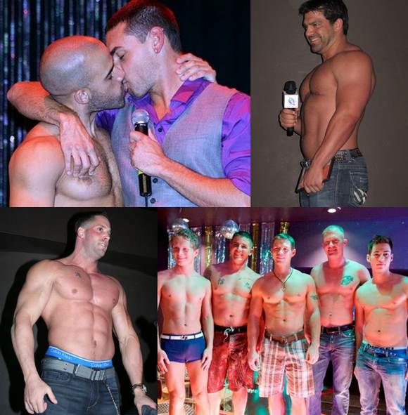 Austin Wilde and Jeremy Bilding kiss, Vince Ferelli Erik Rhodes Kaden Saylor and men of Active Duty shirtless