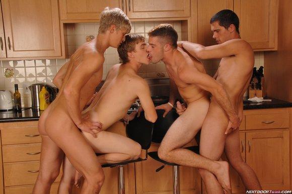 Gay porn foursome