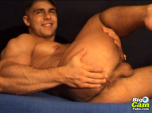 Webcam Guy Toying His Ass Hole