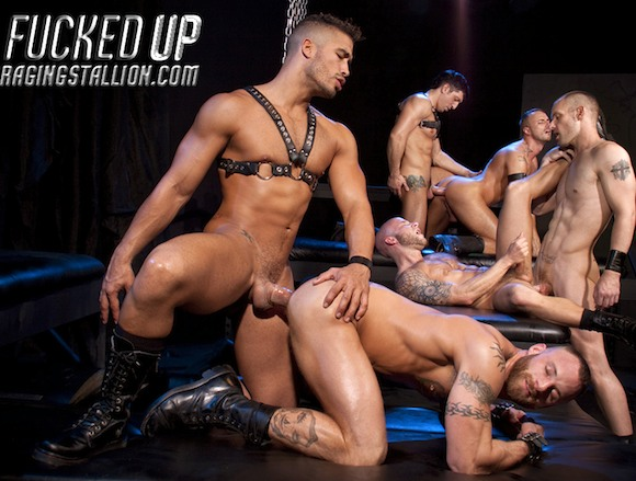 The latest Raging Stallion Exclusive, hairy, beefy, tattooed and muscular ...