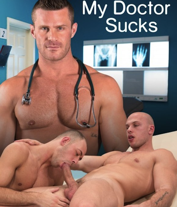 Gay male doctors collecting sperm samples