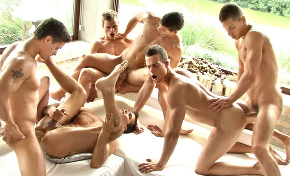 Celebrity orgy free series Total