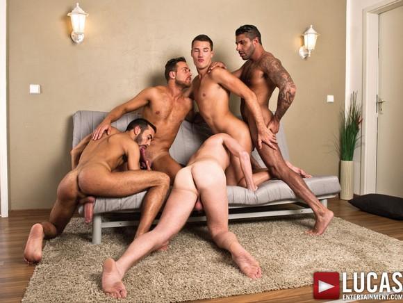 Theo Ford Raul Korso Logan Moore Bareback Orgy