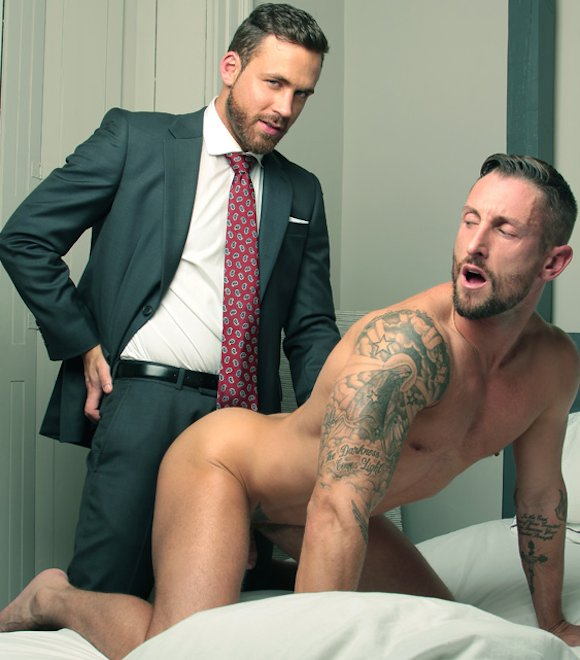 Logan Moore Fucks Nick North Suit Gay Sex
