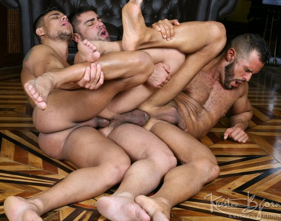 Brad patton leather 3some
