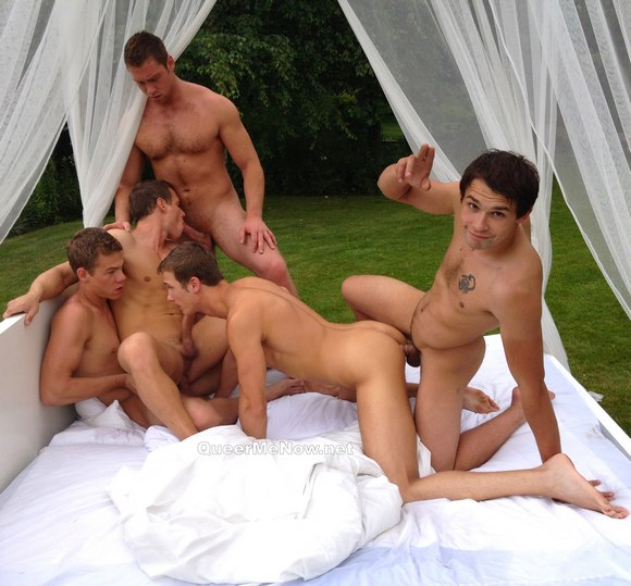 Nakedsword Belami Gay Orgy BTS