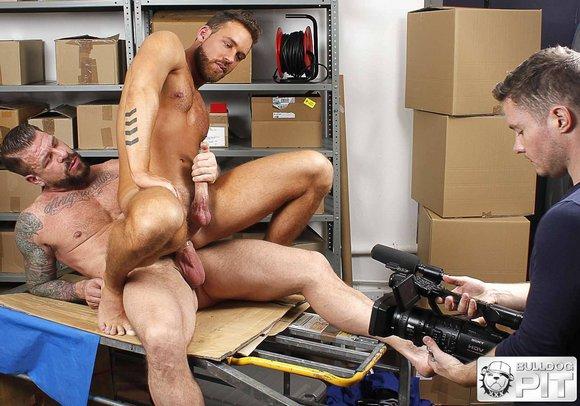 Logan Moore Rocco Steele Gay Porn BTS Stuffed