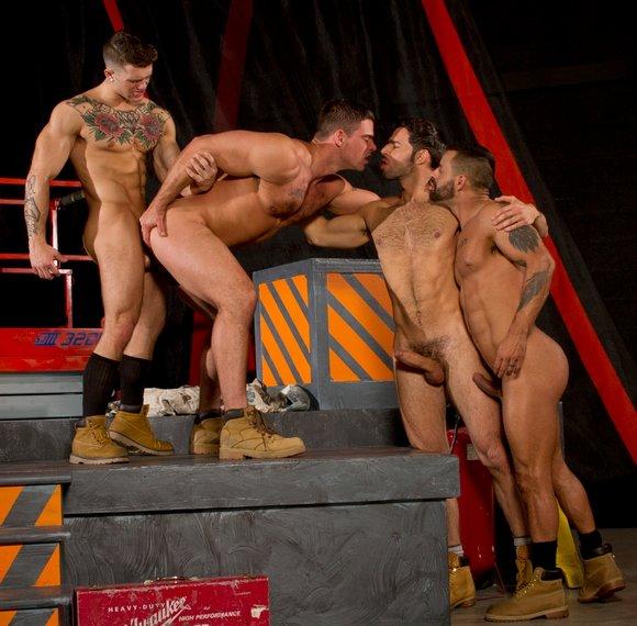 Sebastian Kross Derek Atlas David Benjamin Dario Beck Gay Porn Orgy