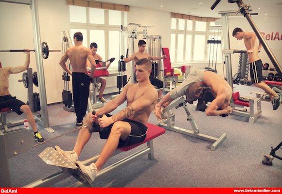 Gay gym Porr