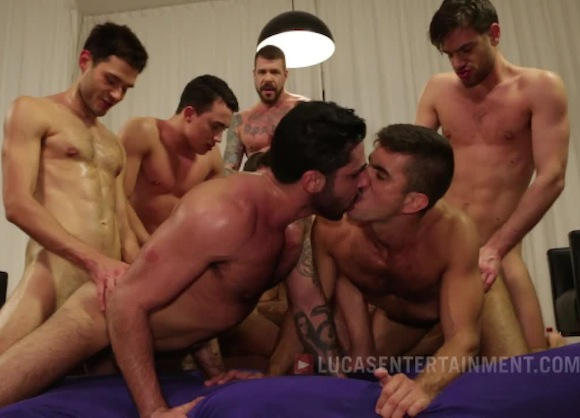 Max Schutler Rocco Steele Leo Alexander Gay Porn Bareback Orgy
